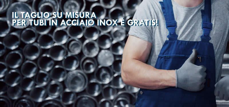 Tuttoinoxshop.com: il taglio su misura di tubi in acciaio inox è gratis