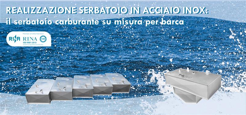 Realizzazione serbatoio in acciaio inox: Il serbatoio carburante su misura per barca