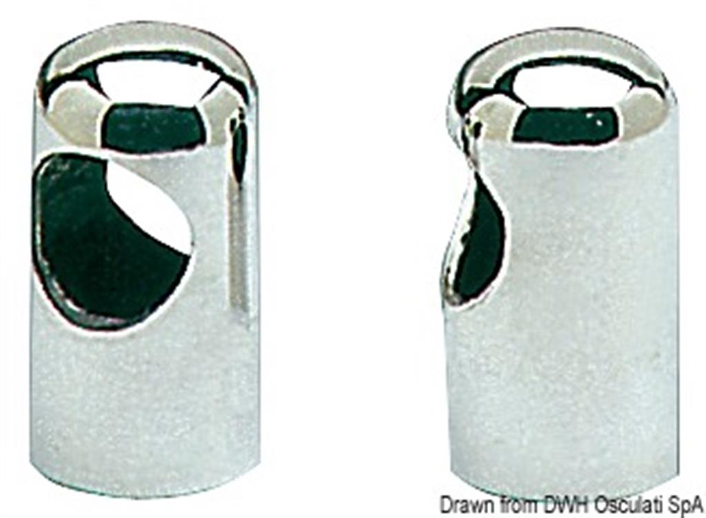 TIENTIBENE IN ACCIAIO INOX CON LED DIAMETRO TUBO 22 mm