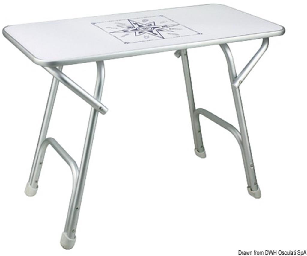 Tavolo pieghevole in alluminio 88x60 cm per camper,barca,ect ...