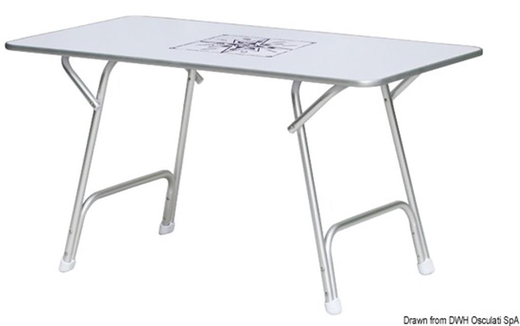 Tavoli Pieghevoli In Alluminio.Tavolo Pieghevole In Alluminio 130x73 Cm Per Barca Camper Ect