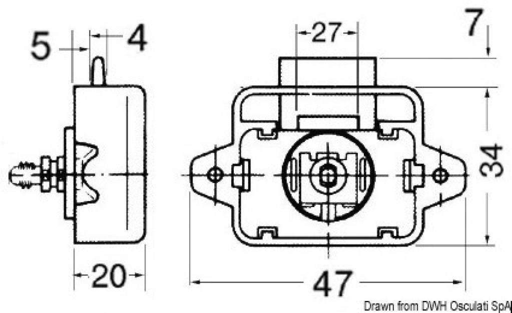 Mini scrocchetto Ott.CR.16mm