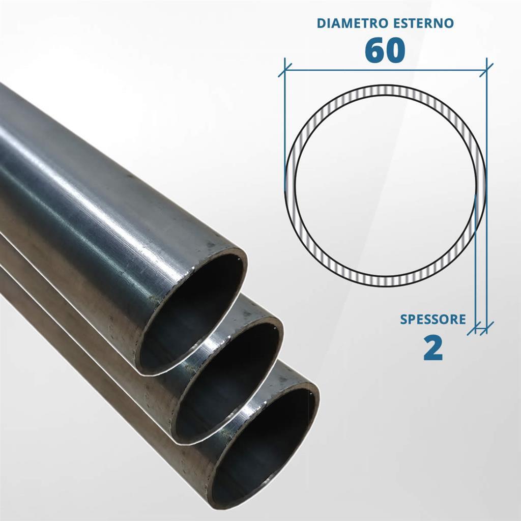 . Tubo in acciaio inox T304 da 1000 mm x 54 mm parete da 1,5 mm