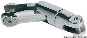 Attacco girevole inox 2 snodi 6/8 mm [Osculati]
