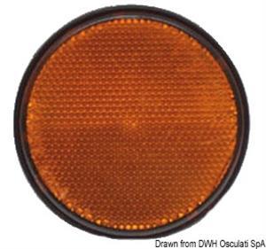 Catarifrangente adesivo arancio 60 mm [Osculati]