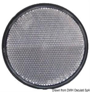 Catarifrangente adesivo bianco 60 mm [Osculati]