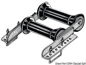 Rullo basculante posteriore 60 mm doppio [Osculati]