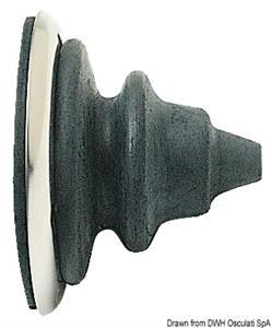 Ghiera passacavi inox con soffietto Dutral grigio  [OSCULATI]
