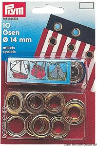 Occhioli 15 occhioli ottone 11 mm [-]