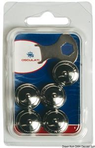 Blister 5 bottoni femmina Loxx 15 mm [Schaeffertec]