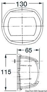 Fanale Maxi 20 inox bianco 225° 24 V [Osculati]