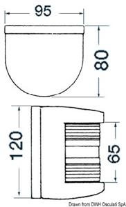 Fanale U78 testa albero/nero 24 V [Osculati]