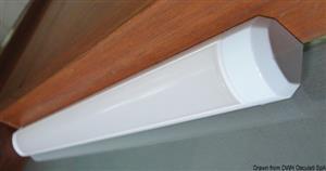 Luce LED 12/24 V 2,4 W 3500 K angolare [Osculati]