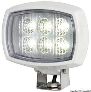 Faro LED HD 6x3W da roll-bar orientabile [Osculati]