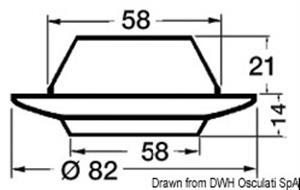 Plafoniera Comet ABS cromato con interruttore [Batsystem]