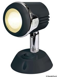 Faretto nero HI-POWER LED 12/24 V  [OSCULATI]