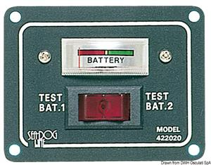 Pannellino tester per 2 batterie [Osculati]