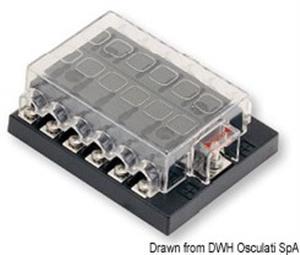 Box per 12 fusibili lamellari [Osculati]