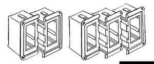 Cornice plastica centrale nera [Carling Technologies]
