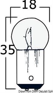 Lampadina bipolare 24 V 10 W [Osculati]