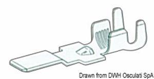 Faston maschio per cavi 4/6 mm² [Osculati]