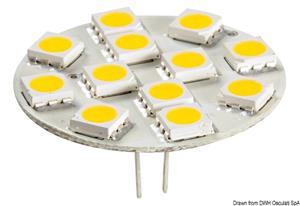 Lampadina 12 LED G4 Ø 30 mm attacco posteriore [Osculati]