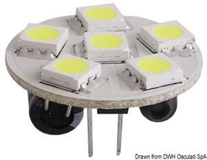 Lampadina 6 LED G4 Ø 24 mm attacco posteriore [Osculati]