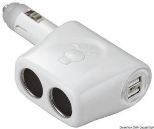 Sdoppiatore di alimentazione + doppio USB [Osculati]