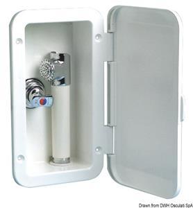 Box doccia con miscelatore tubo PVC 2,5 m a parete [Osculati]