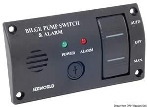 Pannello di controllo per pompe di sentina con allarme sonoro [Osculati]