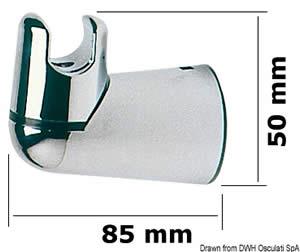 Supporto doccia girevole a parete [Osculati]