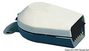 Tromba a membrana LOW PROFILE in ABS bianco [Osculati]