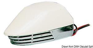 Tromba ABS cromato e bianca 12 V [Osculati]