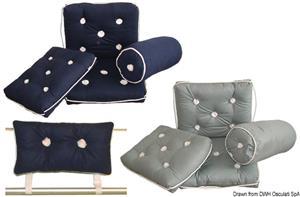Cuscino con schienale blu [Osculati]