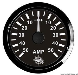 Amperometro con shunt 80 A bianco/lucida [Osculati]
