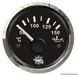 Indicatore temperatura olio 50/150° nero/lucida [Osculati]