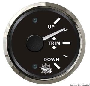 Indicatore trim 0-190 Ohm nero/lucida [Osculati]