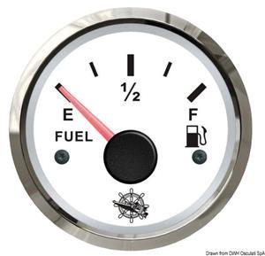 Indicatore carburante 240/33 Ohm bianco/lucida [Osculati]