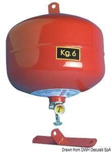 Estintore automatico 6 Kg a pioggia  [OSCULATI]
