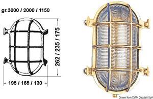 Lampada tartaruga ovale 130 x 175 mm [-]