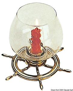 Portacandela timone ottone  [OSCULATI]