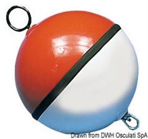 Boa sfera bianca/rossa piena 1000 mm [Osculati]