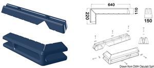 Protezione per pontile 640 + 220 mm blu [Osculati]