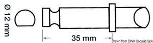 Scalmo plastica/ottone 12 x 35 mm [Scoprega]