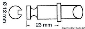 Scalmo plastica/ottone 12 x 23 mm [Scoprega]