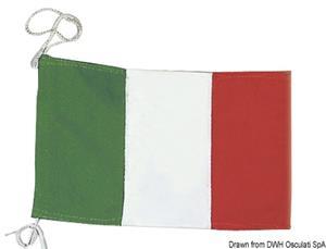 Bandiera di cortesia Italiana in stamina di poliestere [Osculati]