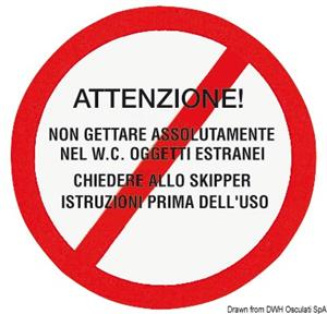 Adesivo avvertenze w.c.  [Osculati]