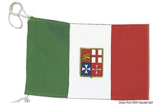 Bandiera Italia Marina Mercantile 20 x 30 cm [Osculati]
