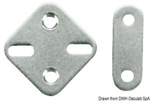 Piastrina inox 19x51 mm [Osculati]