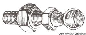 Pallina in acciaio per montaggio a scatto molla a gas [Osculati]